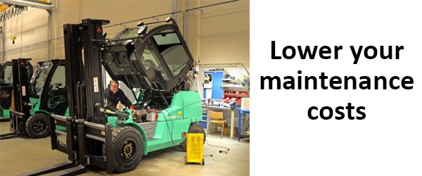 forklift maintenance costs benefits